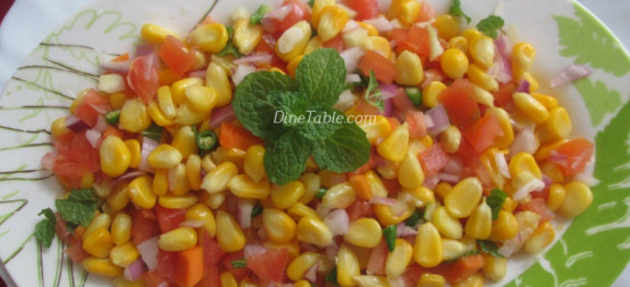 Sweet Corn Salad Recipe | Easy Sweet Corn Salad Recipe