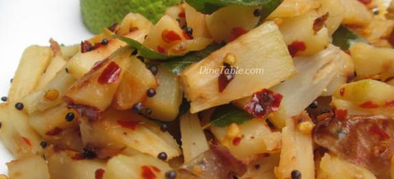 Kadachakka Mezhukkupuratti Recipe | കടച്ചക്ക ഉപ്പേരി | Homemade Recipe