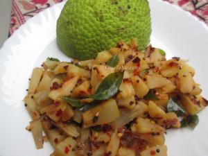 Kadachakka Mezhukkupuratti Recipe | കടച്ചക്ക മെഴുക്കുപുരട്ടി | Kerala Cuisine Recipe