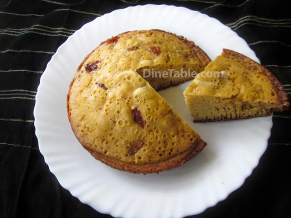 Banana Sponge Cake In Pressure Cooker