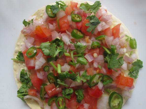 Masala Papad Chat Recipe   Indian Starter Recipe   Delicious Recipe