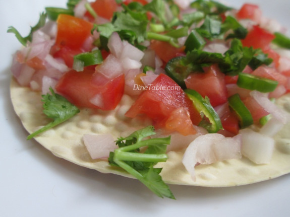 Masala Papad Chat Recipe   Indian Starter Recipe   Quick and Easy Recipe