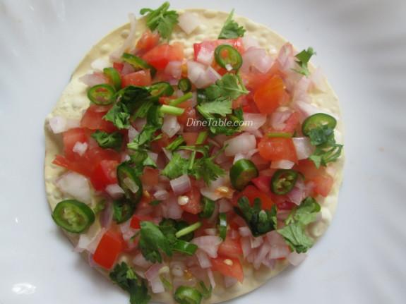 Masala Papad Chat Recipe   Indian Starter Recipe   Evening Snack Recipe