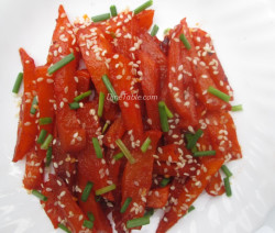 Honey Chilli Potatoes With Sesame Seeds Recipe | Easy Recipe