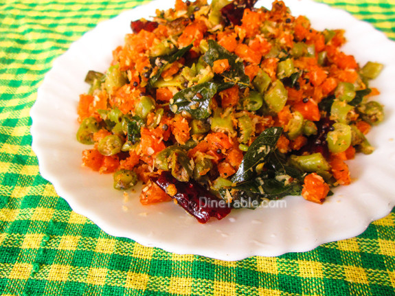 Carrot Beans Thoran Recipe / Tasty Dish