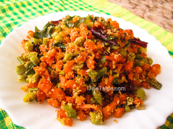 Carrot Beans Thoran Recipe / Easy Dish