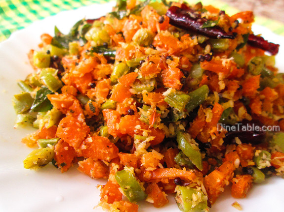 Carrot Beans Thoran Recipe - കാരറ്റ് ബീൻസ് തോരൻ - Healthy Recipe