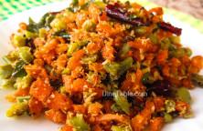 Carrot Beans Thoran Recipe - കാരറ്റ് ബീൻസ് തോരൻ - Carrot Beans Stir Fry Recipe