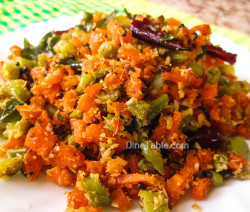 Carrot Beans Thoran Recipe / Simple Dish