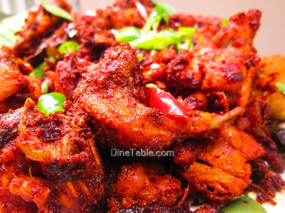 Kerala Style Chicken Fry Recipe - കേരള ചിക്കൻ ഫ്രൈ - Side Dish Recipe
