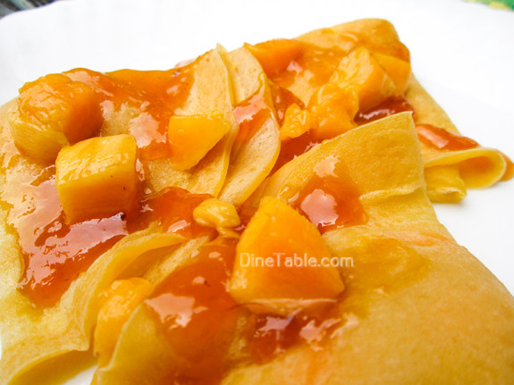 Mango Crepes Recipe - Ramadan Recipe - Simple Recipe - Easy Recipe