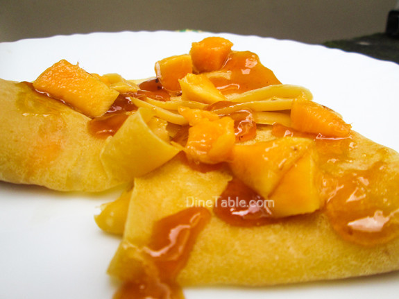 Mango Crepes Recipe - Ramadan Recipe - Simple Recipe - Mango Recipe