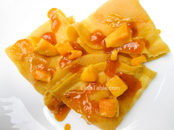 Mango Crepes Recipe - Ramadan Recipe - Simple Recipe - Delicious Recipe