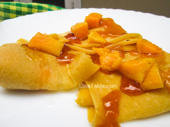 Mango Crepes Recipe - Ramadan Recipe - Simple Recipe - Snack Recipe