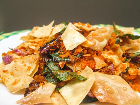 Pappadam Thoran Recipe - പപ്പടം തോരൻ - Side Dish Recipe