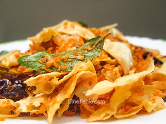 Pappadam Thoran Recipe - പപ്പടം തോരൻ - Quick and Easy Recipe