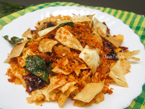 Pappadam Thoran Recipe - പപ്പടം തോരൻ - Tasty Recipe
