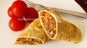 Omelette wrap with Moong dal stir fry Recipe - Easy Recipe - Diet Recipe