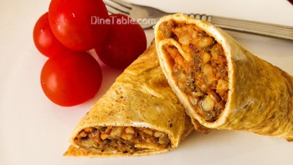 Omelette wrap with Moong dal stir fry Recipe - Easy Recipe - Healthy Recipe