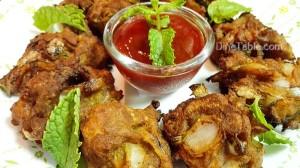 Prawns Ulli Baji Recipe - Homemade Snack Recipe - Simple Recipe