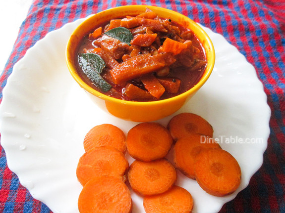 Carrot Pickle Recipe - കാരറ്റ് അച്ചാർ - Sadya Recipe  - Simple Recipe