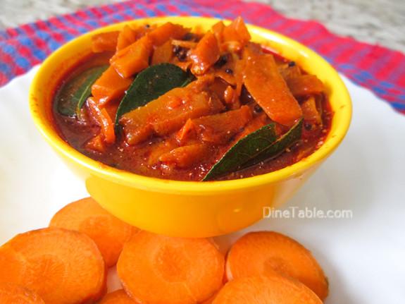 Carrot Pickle Recipe - കാരറ്റ് അച്ചാർ - Sadya Recipe  - Homemade Recipe