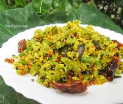 Chembin Thal Thoran Recipe - ചേമ്പിൻ താൾ തോരൻ - Taro Stem Stir Fry Recipe - Sadya Recipe