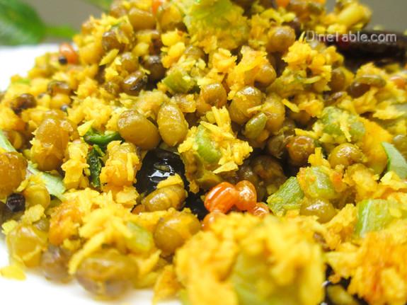 Chenathandu Cherupayar Thoran Recipe - Kerala Recipe - Onam Sadya Recipe