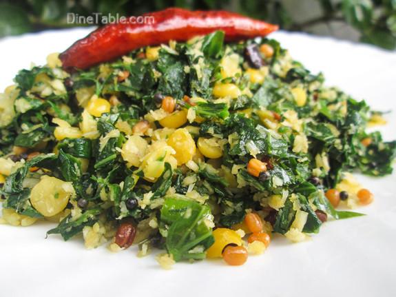 Cheera Parippu Thoran Recipe - ചീര പരിപ്പ് തോരൻ - Spinach Dal Stir Fry Recipe