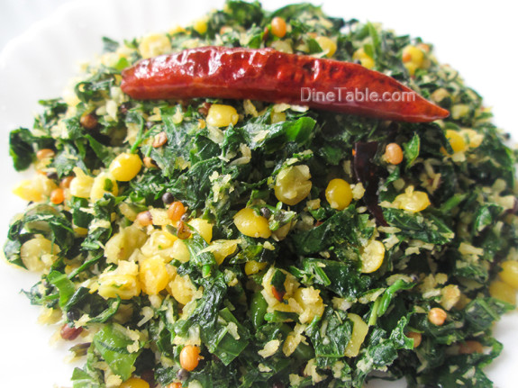 Cheera Parippu Thoran Recipe - ചീര പരിപ്പ് തോരൻ - Spinach Dal Stir Fry Recipe - Healthy Recipe