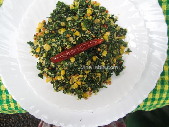 Cheera Parippu Thoran Recipe - ചീര പരിപ്പ് തോരൻ - Spinach Dal Stir Fry Recipe - Kerala Recipe