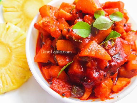Pineapple Pickle Recipe - പൈനാപ്പിൾ അച്ചാർ - Tasty Recipe
