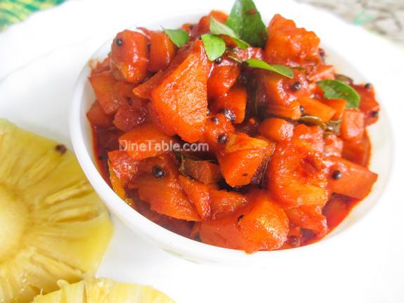 Pineapple Pickle Recipe - പൈനാപ്പിൾ അച്ചാർ - Onam Recipe