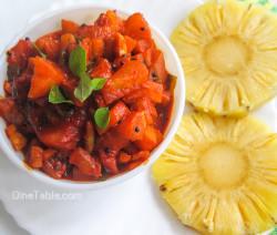 Pineapple Pickle Recipe - പൈനാപ്പിൾ അച്ചാർ - Sadya Special Recipe