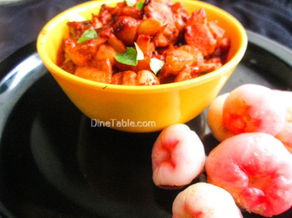 Rose Apple Pickle Recipe - ചാമ്പക്ക അച്ചാർ - Sadya Special Recipe