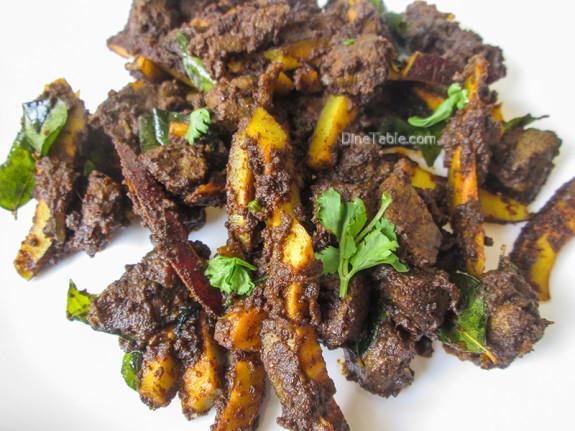 Beef Liver Fry Recipe / Karal Varuthathu / Side Dish