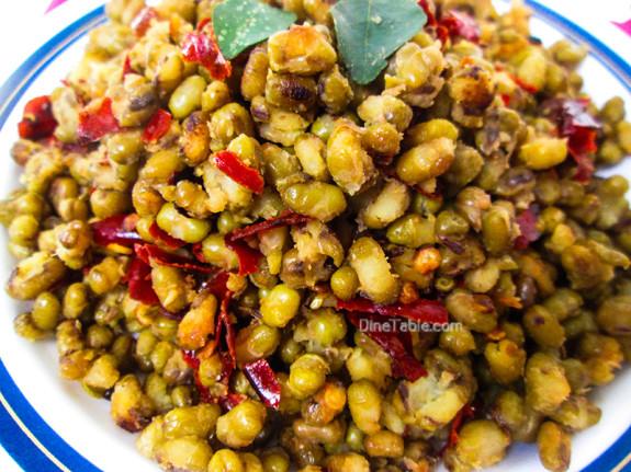 Cherupayar Ularthiyathu | Green Gram Stir Fry | Kerala Recipe