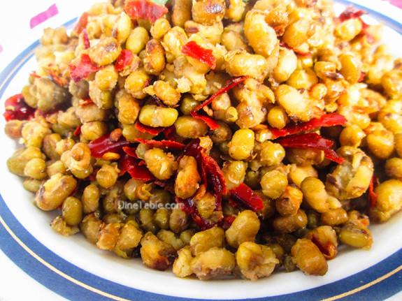 Cherupayar Ularthiyathu | Green Gram Stir Fry | Delicious