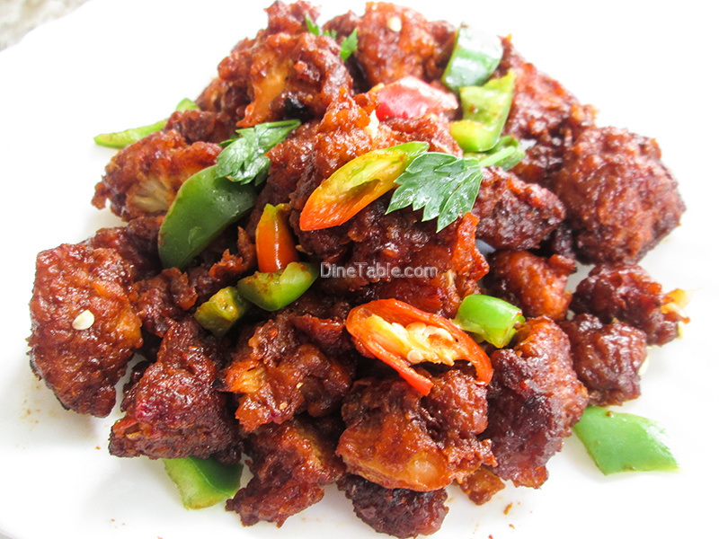 Dragon Gobi Recipe Restaurant Style Cauliflower Recipe