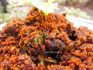 Beef Podi Masala | Beef Fry With Roasted Coconut Masala