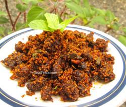 Beef Podi Masala / Beef Fry