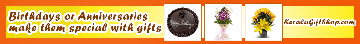 Shop online and send Birthday Anniversary Gifts to your dear loved ones in Kerala