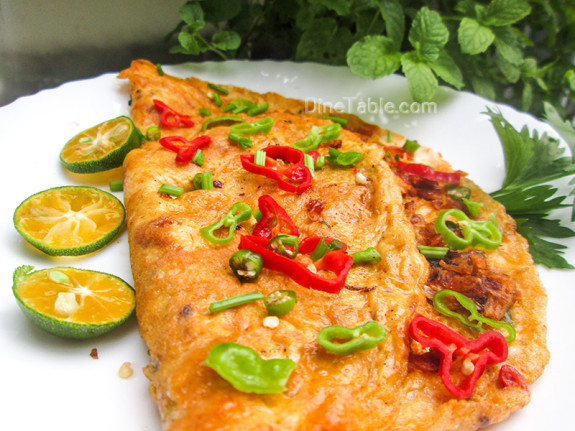 Chicken Omelette / Easy Dish