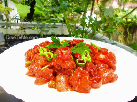 Chilly Chicken / Tasty Side Dish Recipe