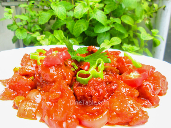 Chilly Chicken / Chicken Side Dish Recipe