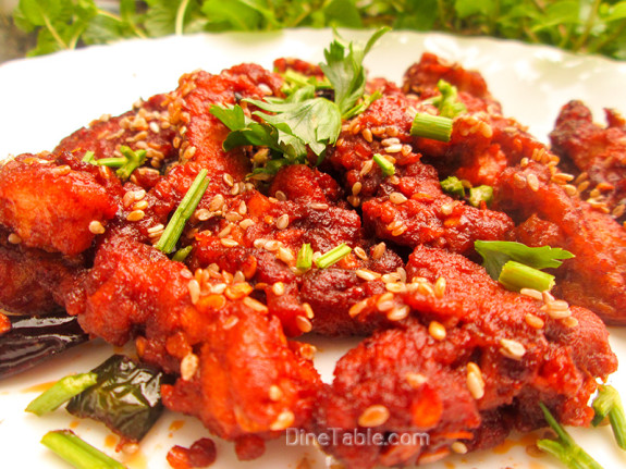 Crispy Honey Chilly Chicken / Juicy