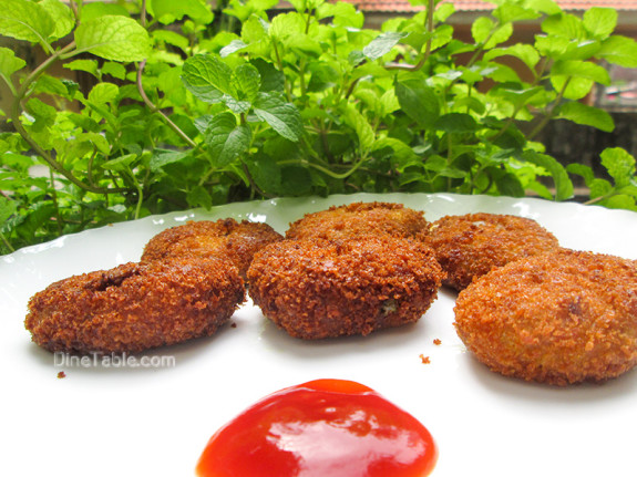Koorka Cutlet / Chinese Potato Cutlet / Quick
