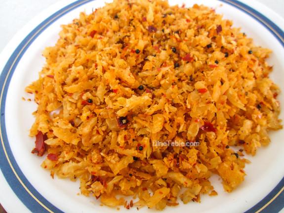 Radish Thoran / Side Dish Recipe