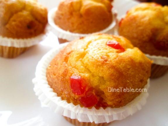 Strawberry Muffins Recipe / Continental Snack