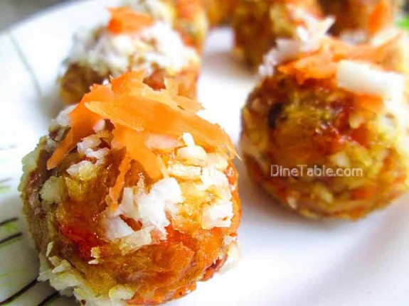 Carrot Coconut Balls / Yummy